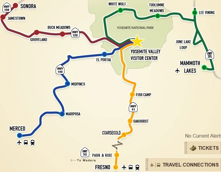 Bus service from Fresno to Yosemite starting this May Stop and Move